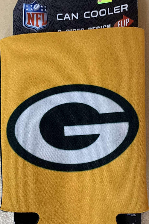 2 Sided Green Bay Can Cooler