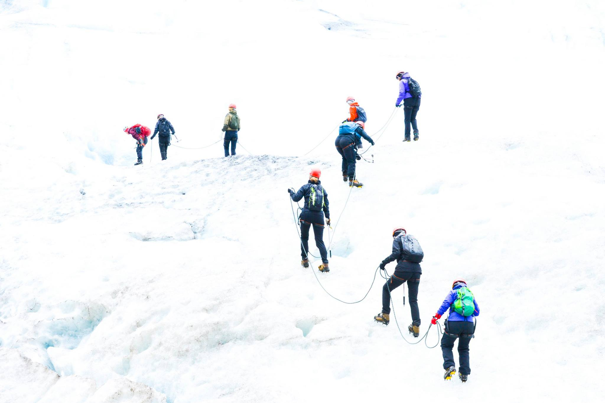 Gutsy women on glacier