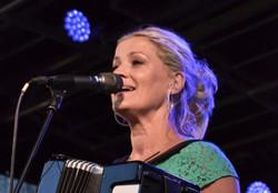 Tina on the accordion