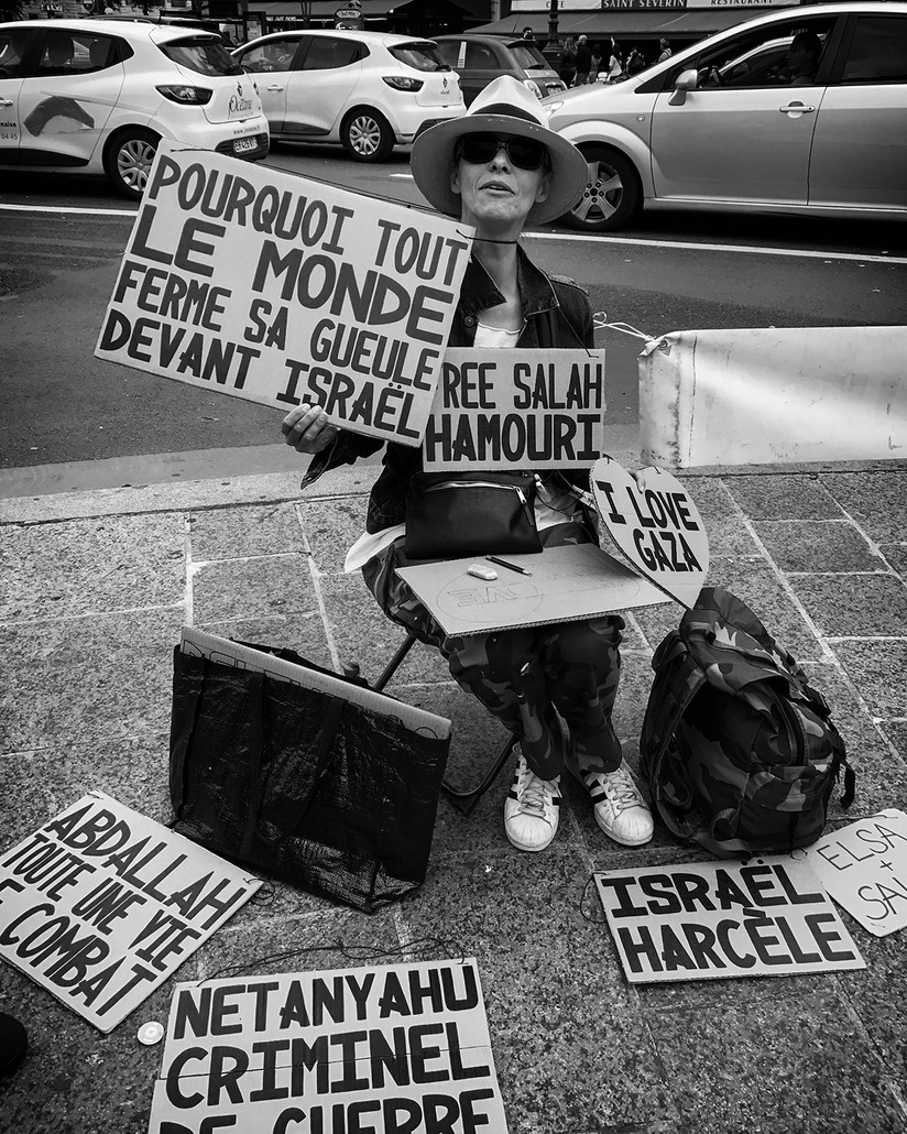 MONO - Lone Protester by Eileen McCausland (8 marks)