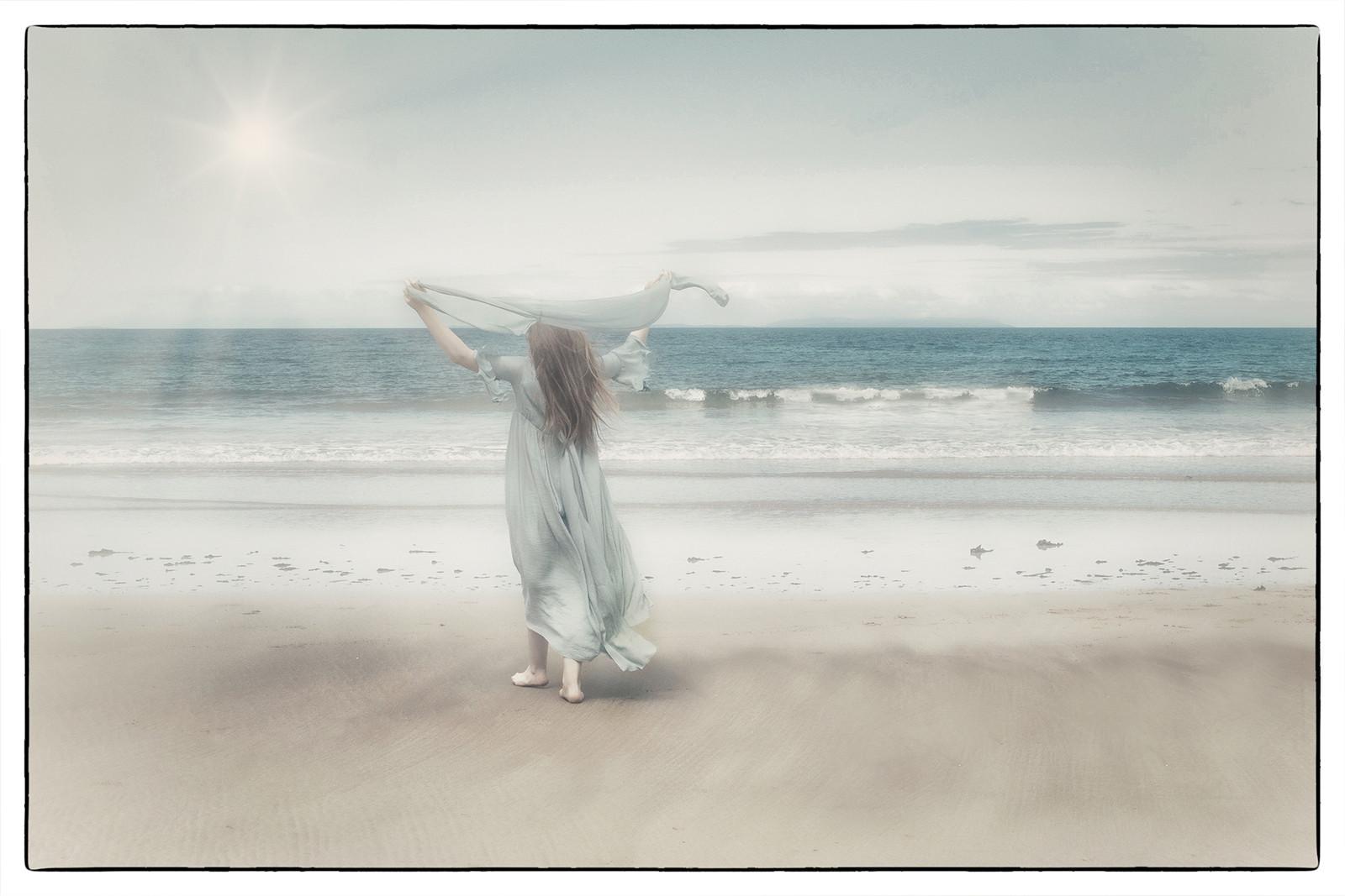 'Misty Beach' by Dympna Heagney ( 10.5 marks )