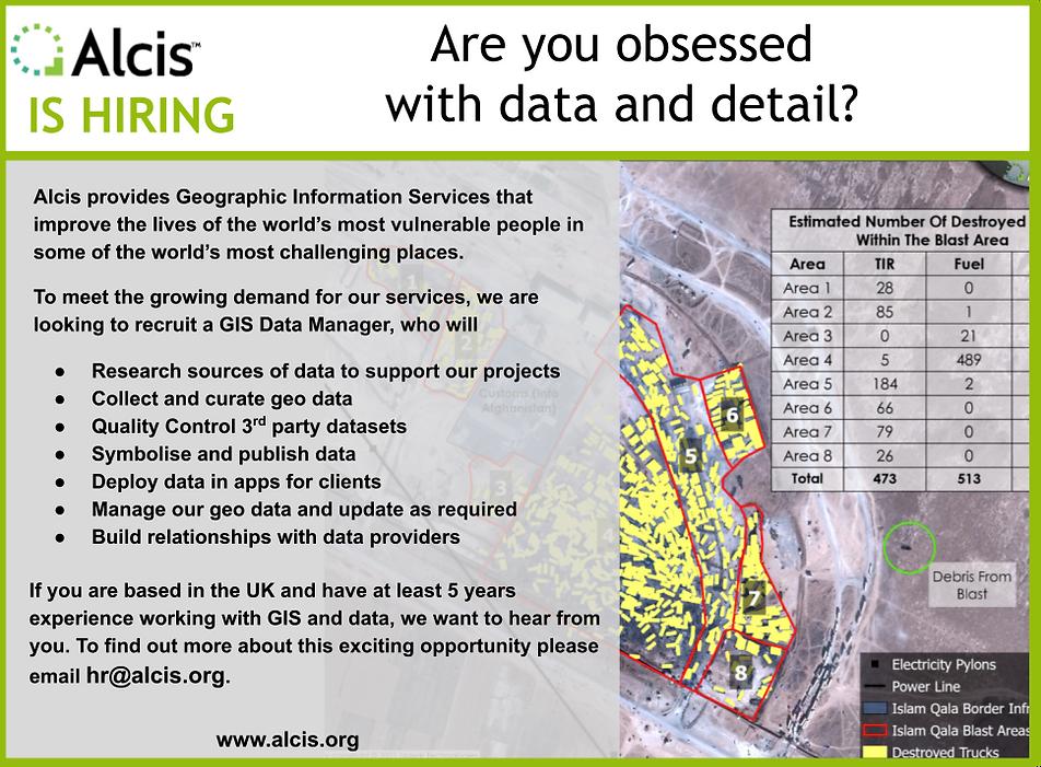 GIS Data Manager Job Ad