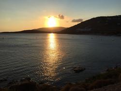 Sunset over Golden beach