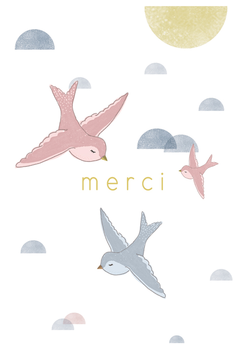 Postcard - Merci