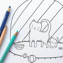 Illustration for kids coloring
