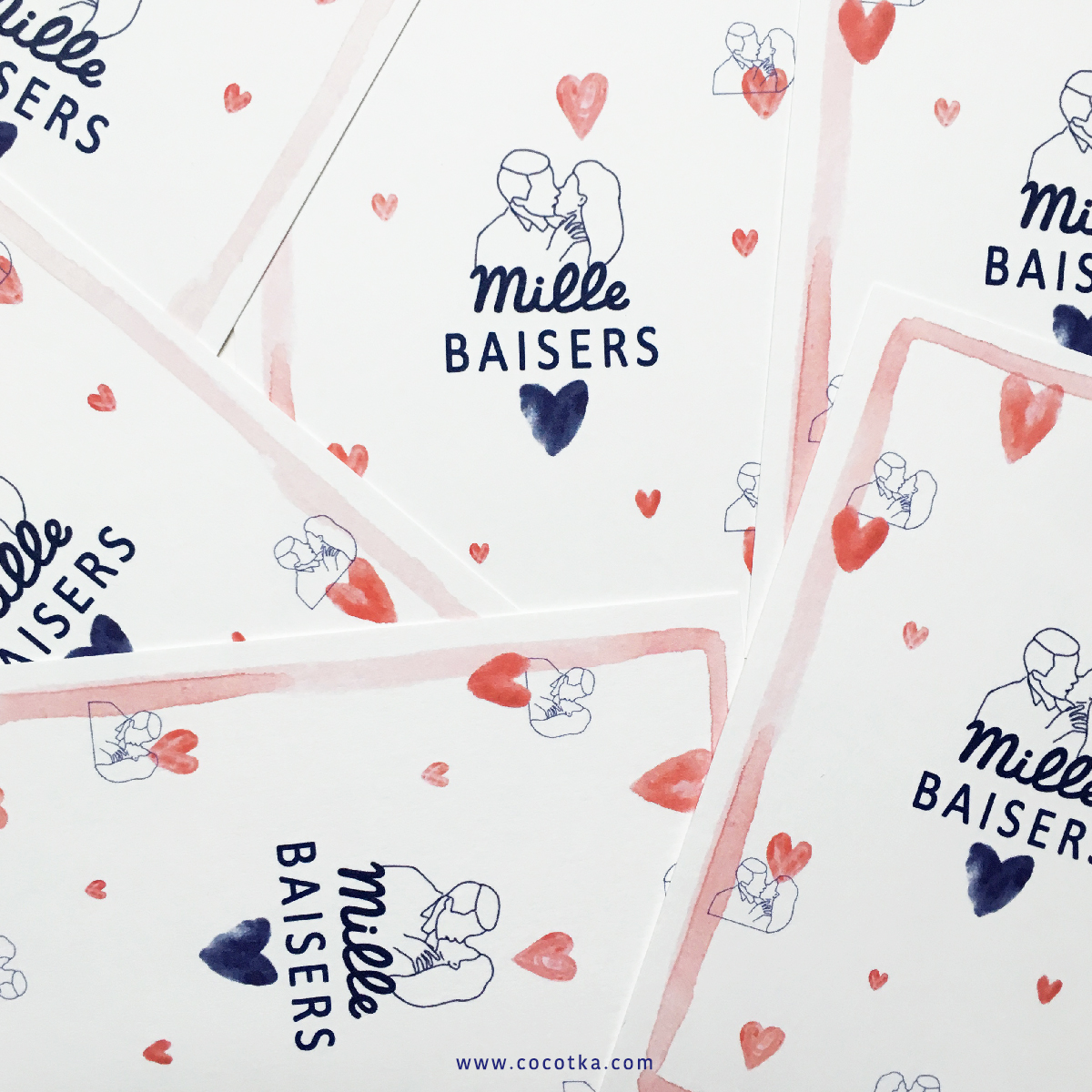 Postcard Mille Baisers