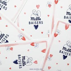 Postcard Mille Baisers