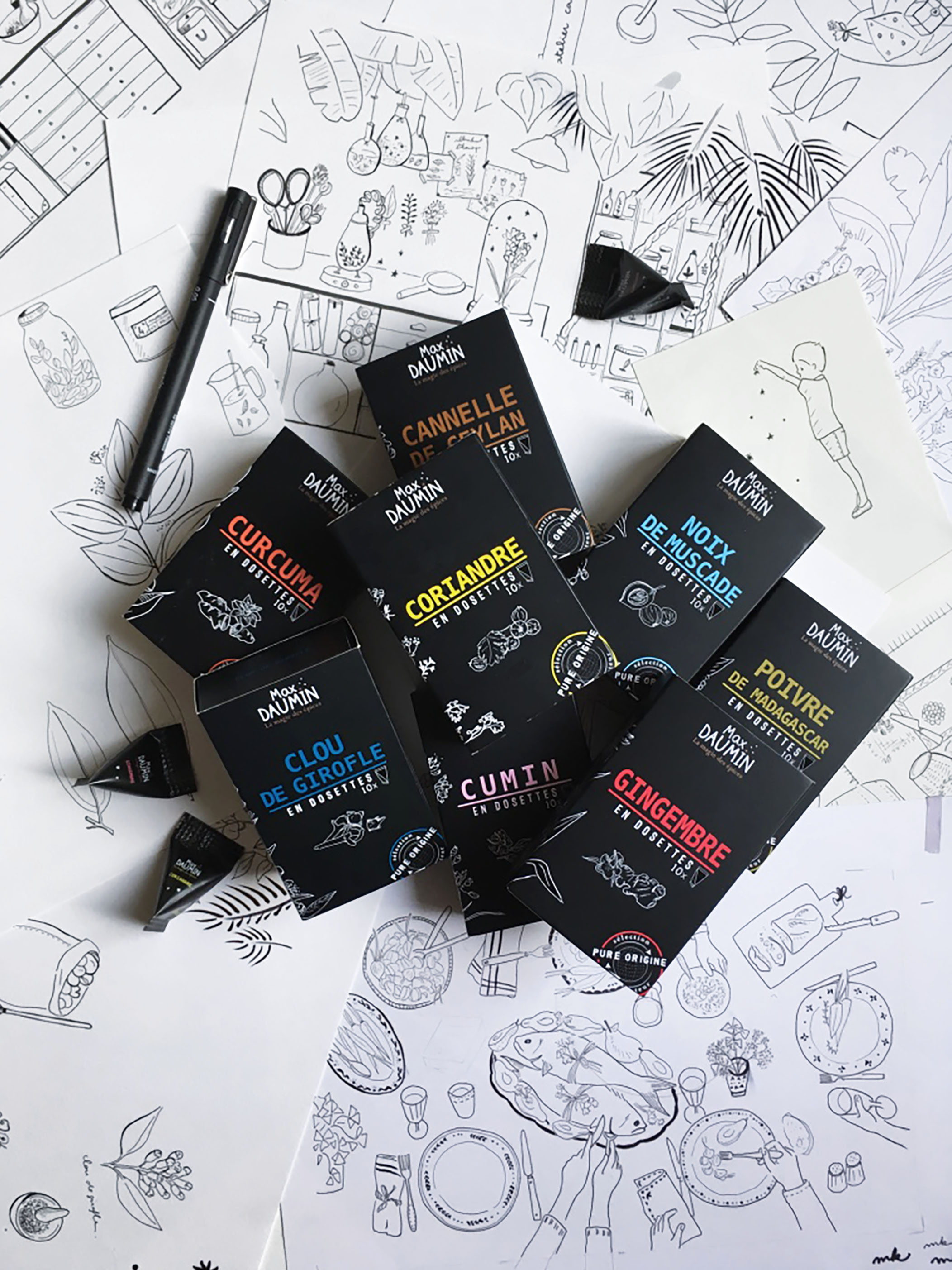 Illustrations for Packaging