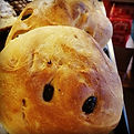 Olive bread straight out of the oven!#ol