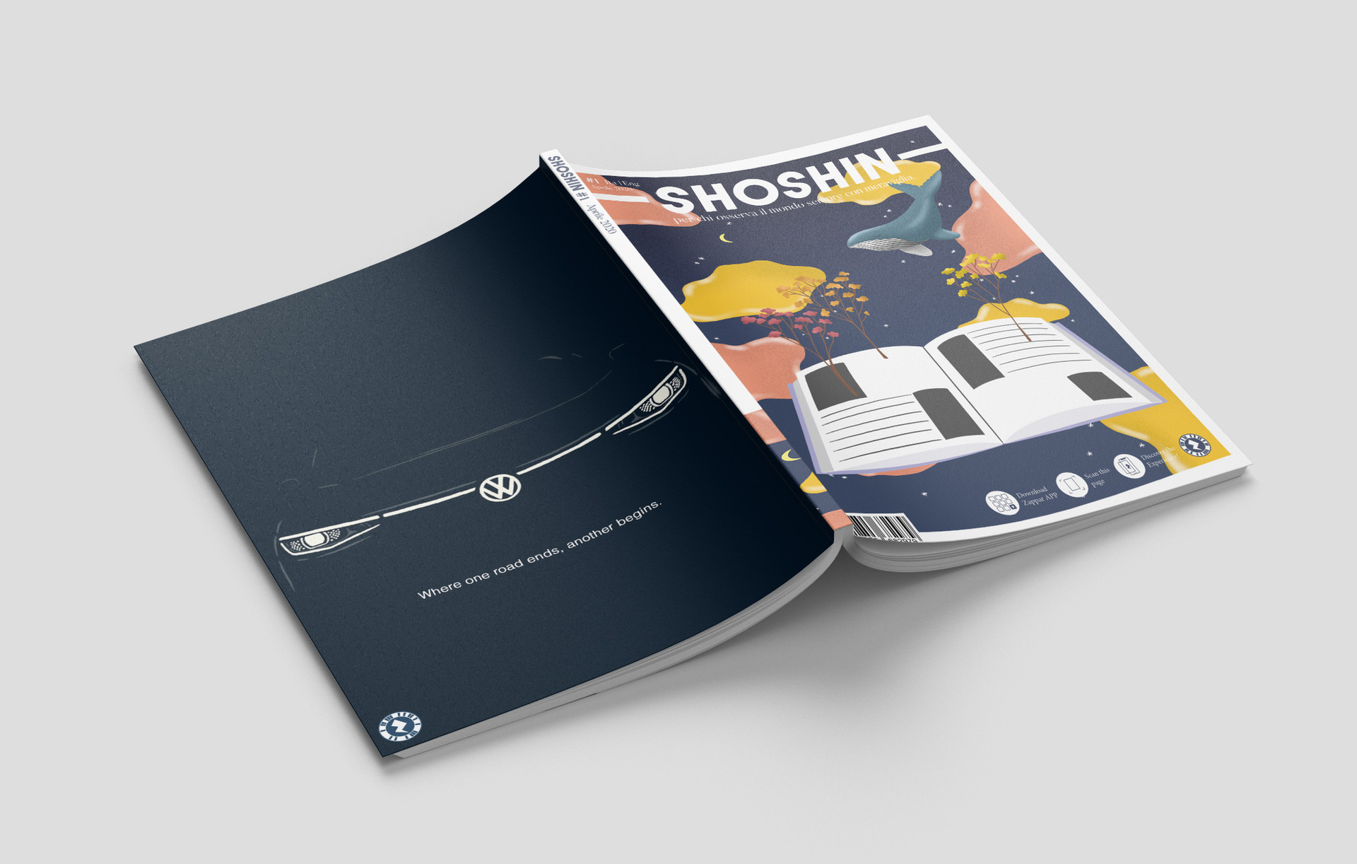 SHOSHIN - Project of a magazine between paper, digital and augmented reality