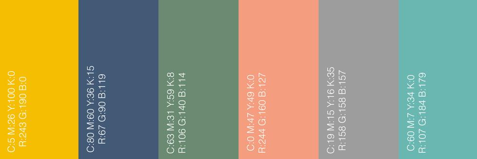 The colours'palette