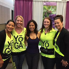 Teaching a Yoga with Essential Oils class today The Yoga Epo LA Stop by the doTerra booth These Beautiful ladies will take good care of you.jpg