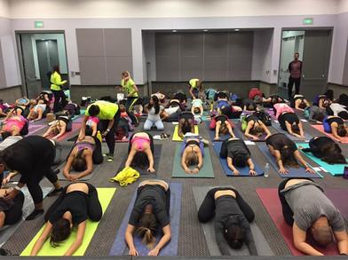 Teaching Essential Oils + Yoga at the LA Yoga Expo