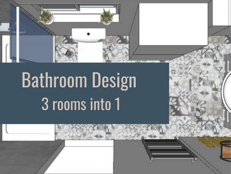 Bathroom Renovation - 3 become 1