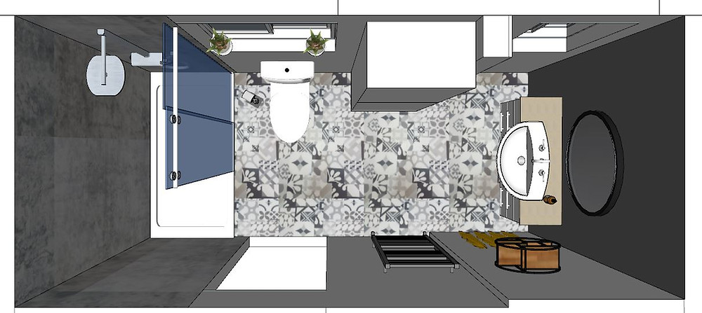 3D Bathroom Design Plan