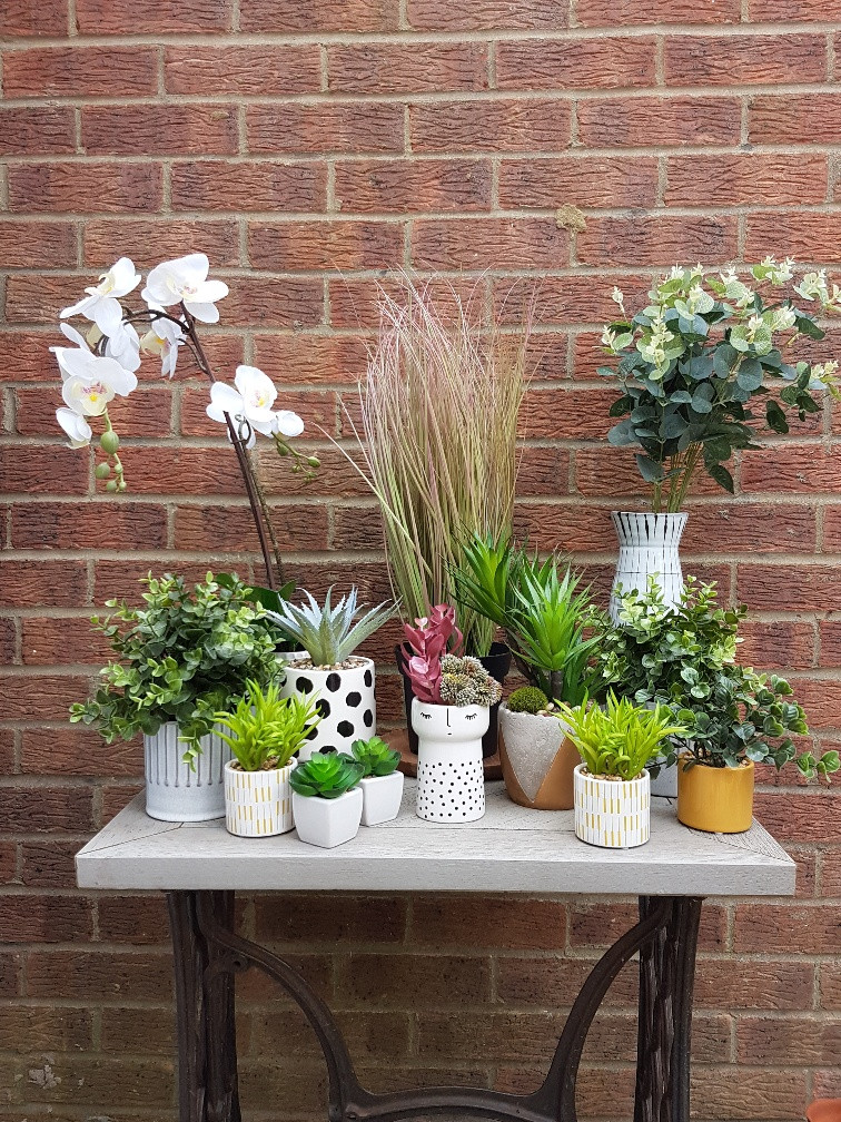My Claybrick Home Faux Plants