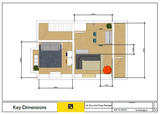 2D Floor Plan with Key Furniture and Joinery