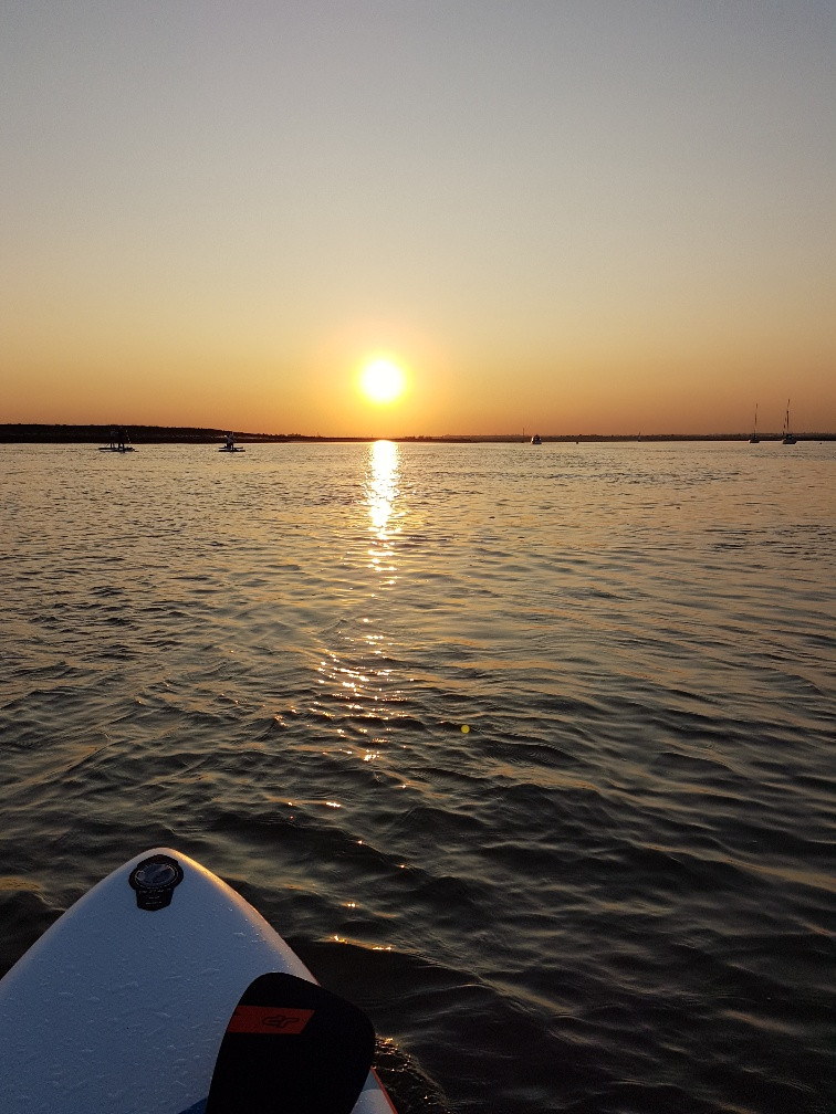 Picture of the sunset on the River Crouch, Essex while paddleboarding