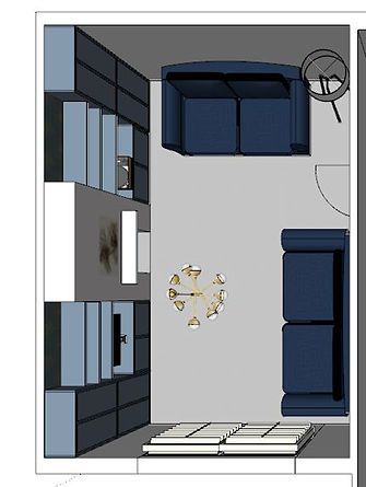 2D Perspective Design plan of adult lounge