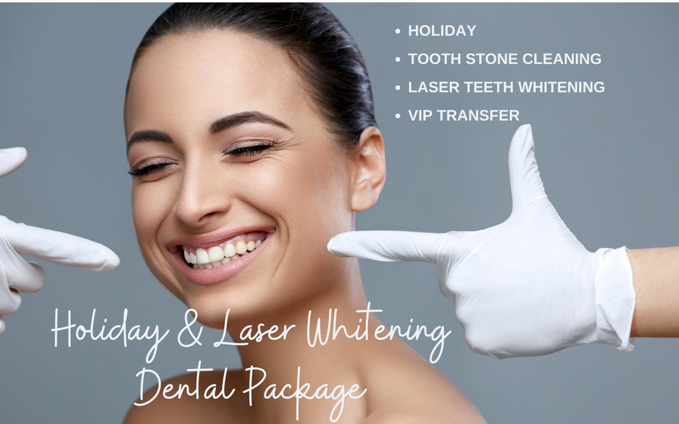 Holiday & Laser Whitening Dental Package