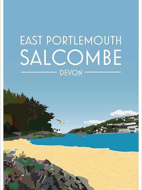 East Portlemouth & Salcombe Print