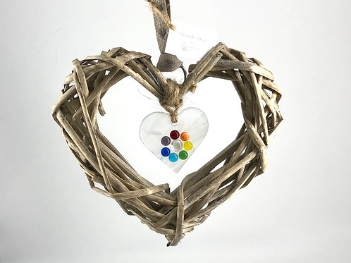 Glass & Wicker Heart design 1