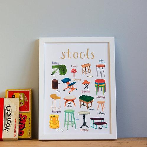 Stools - A4 Print
