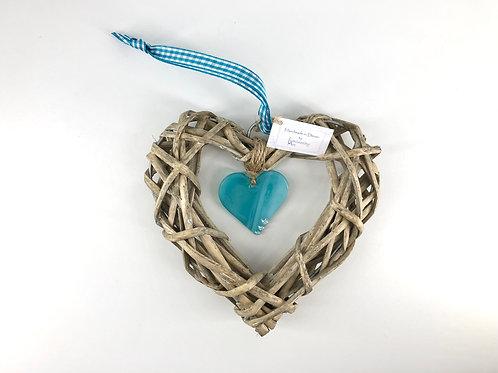 Glass & Wicker Heart Design 3
