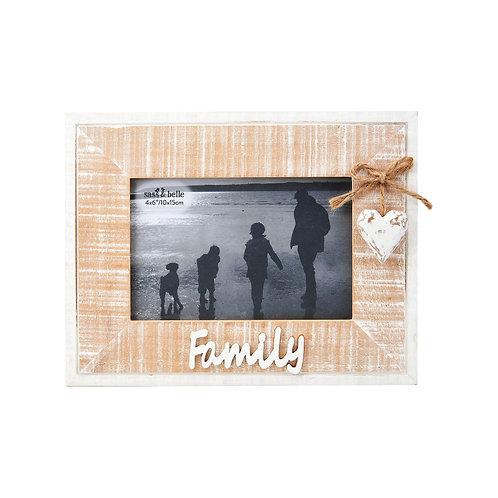Rustic Heart Family Frame