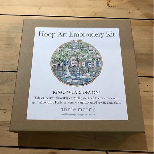 Kingswear Devon Hoop Embroidery Kit