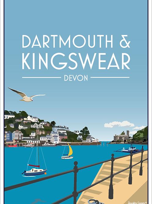 Dartmouth & Kingswear Print