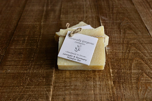 Lavender and rosemary solid shampoo bar 100g