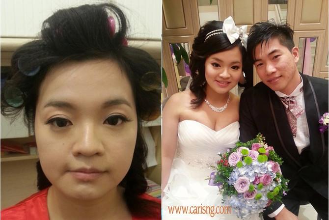 台式新娘化妝髮型特點