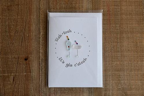 Its Gin O'clock Card