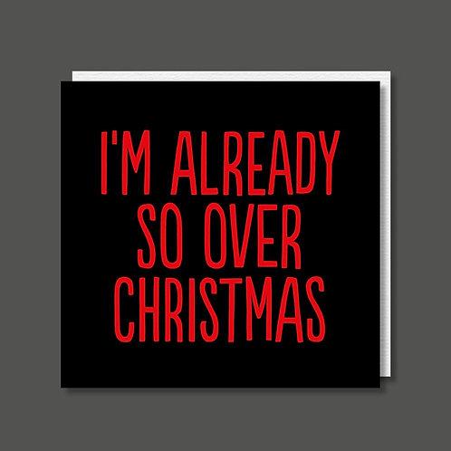 Over Christmas Card