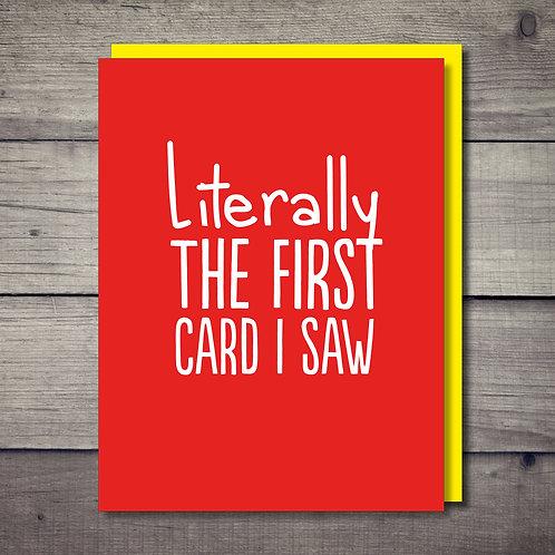 First Card Card