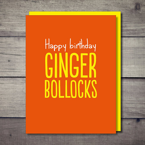 Ginger Card
