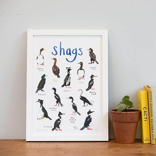 Shags - A4 Print