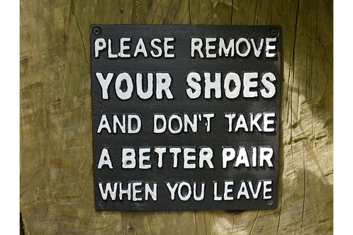 Shoe Sign