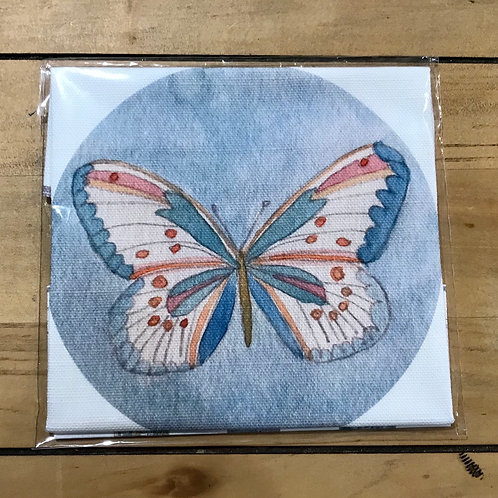 Butterfly Linen Embroidery Panel