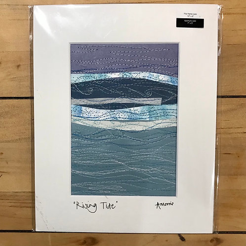Rising Tide Embroidered Mounted Picture