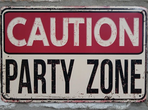 Party Zone Sign