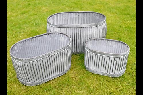 Galvanised Tub Medium