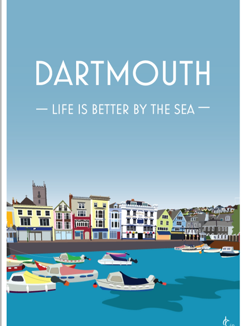 Dartmouth Harbour Print.