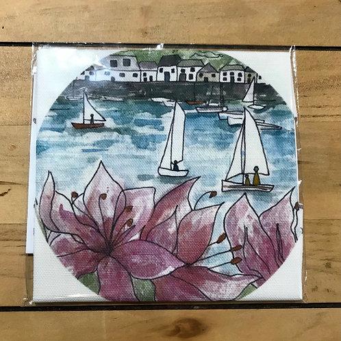 Salcombe Regatta Linen Embroidery Panel