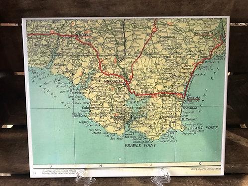 Vintage Map Mat Kingsbridge & Modbury