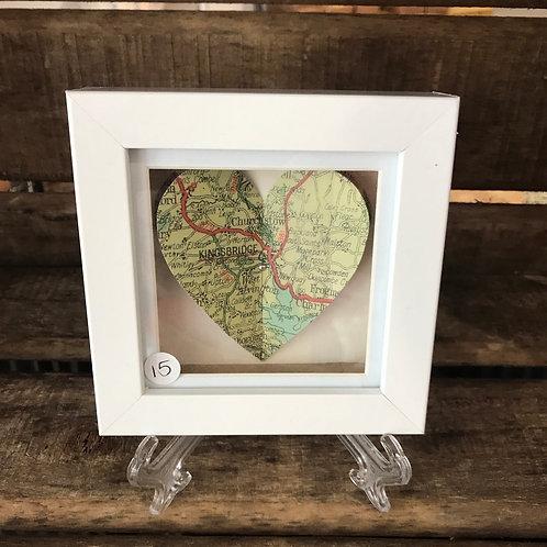 Kingsbridge & Churchstow Heart Map Picture Large