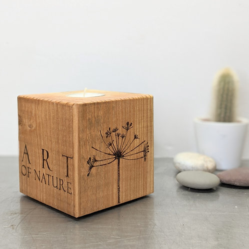 Candle Cube Medium, Cow Parsley, 'Art Of Nature'