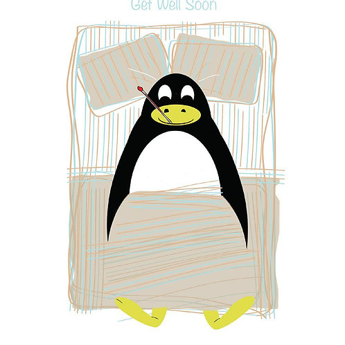 Poorly Penquin Card