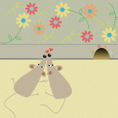 Mouse House Card